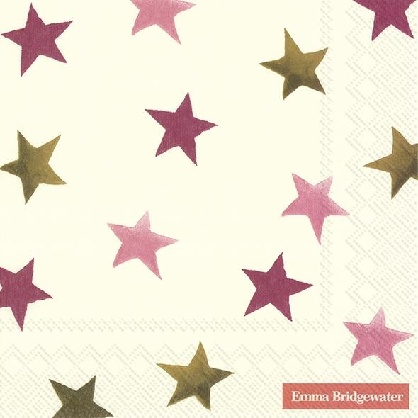 Napkins 33x33 cm - STARGAZER LILY STAR cream