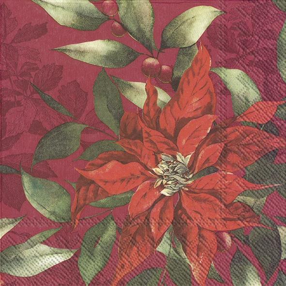 Servilletas 33x33 cm - GOD JUL red