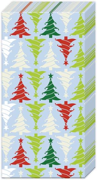 Pañuelos - TREES IN LINE light blue