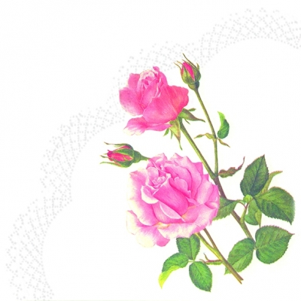 Servietten - Rund - A ROSE FOR YOU