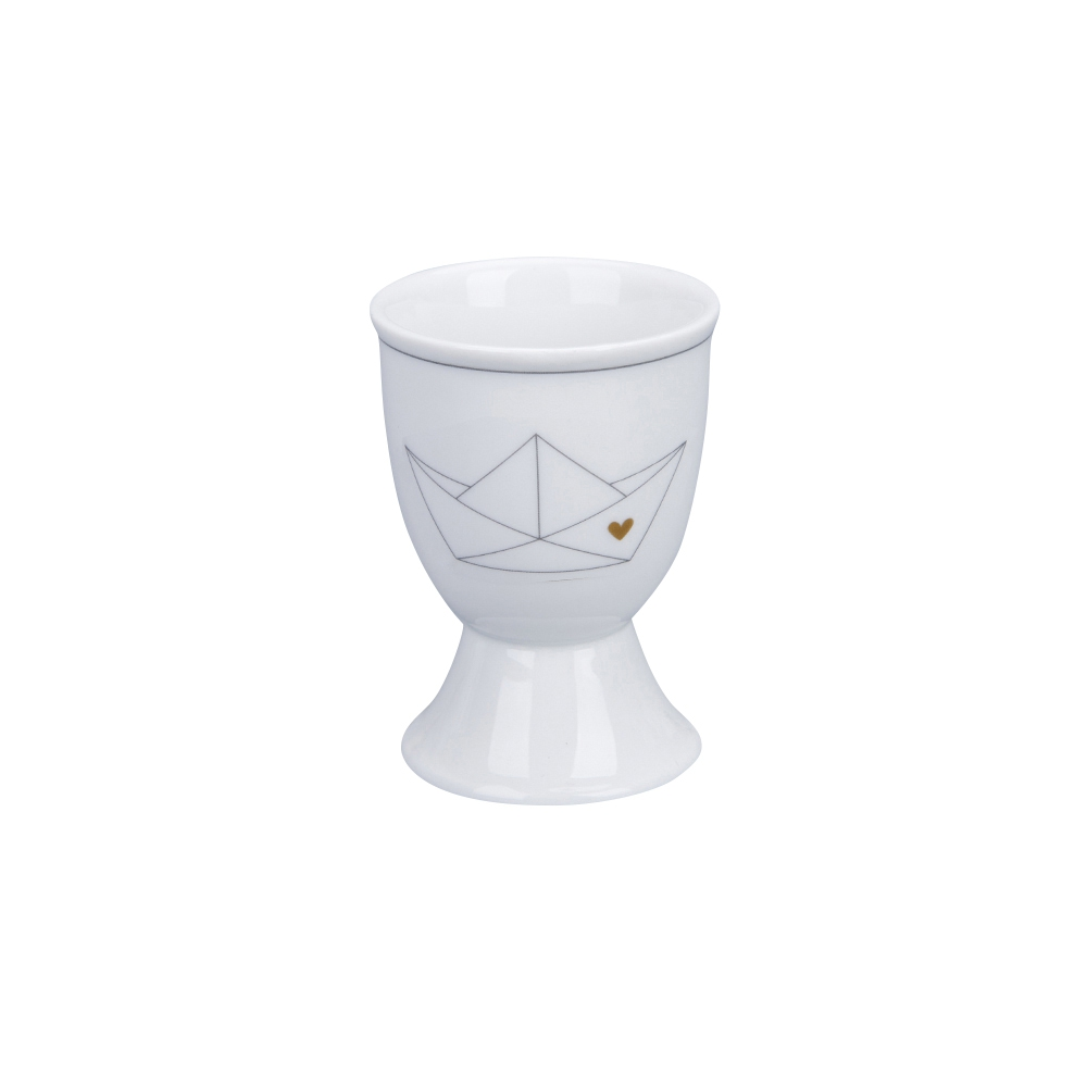 Egg cup -  Paperboat with heart