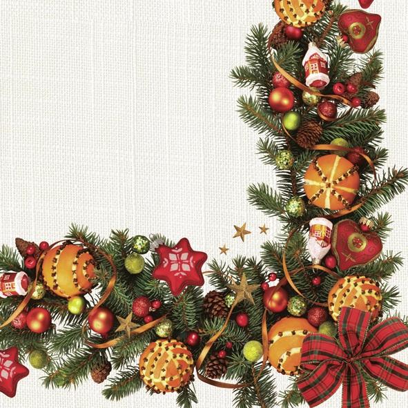 Napkins 33x33 cm - Christmas Decorative Frame