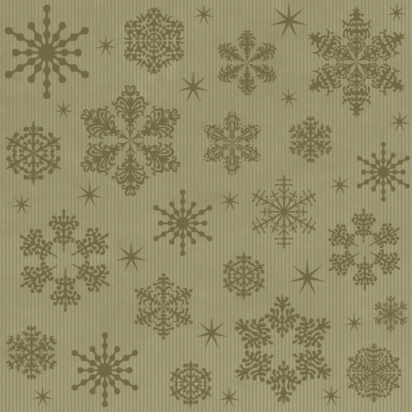 Napkins 33x33 cm - Graphic Stars on Kraft