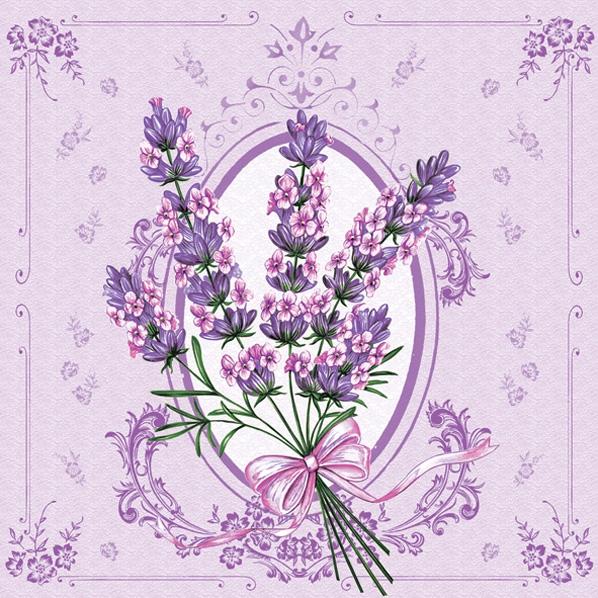 Napkins 33x33 cm - Lavender