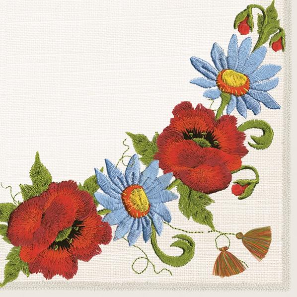 Tovaglioli 33x33 cm - Folklore Flowers
