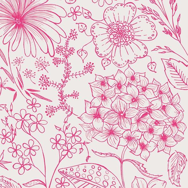 Servilletas 33x33 cm - Botanical Flowers Pink
