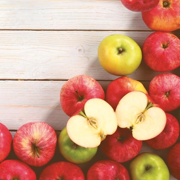 Servilletas 33x33 cm - Tasty Apples on Wood