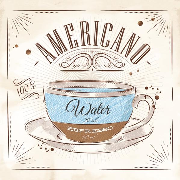 Napkins 33x33 cm - Coffee Americano