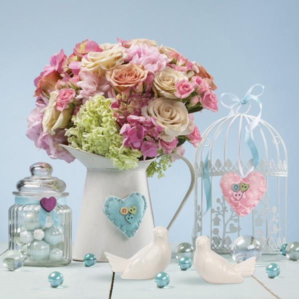 Napkins 33x33 cm - Jug Full of Flowers