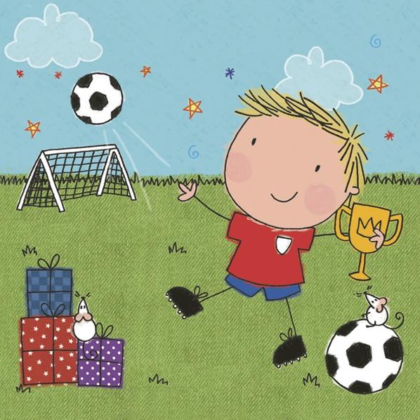 Napkins 33x33 cm - Little Football Player