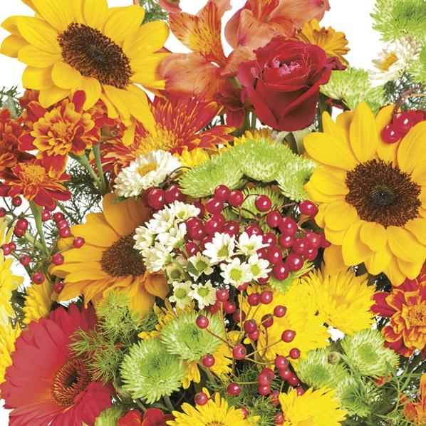 Serwetki 33x33 cm - Rich Autumn Bouquet