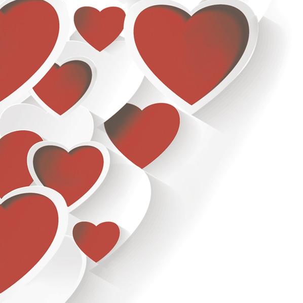 Servilletas 33x33 cm - Creative 3D Hearts