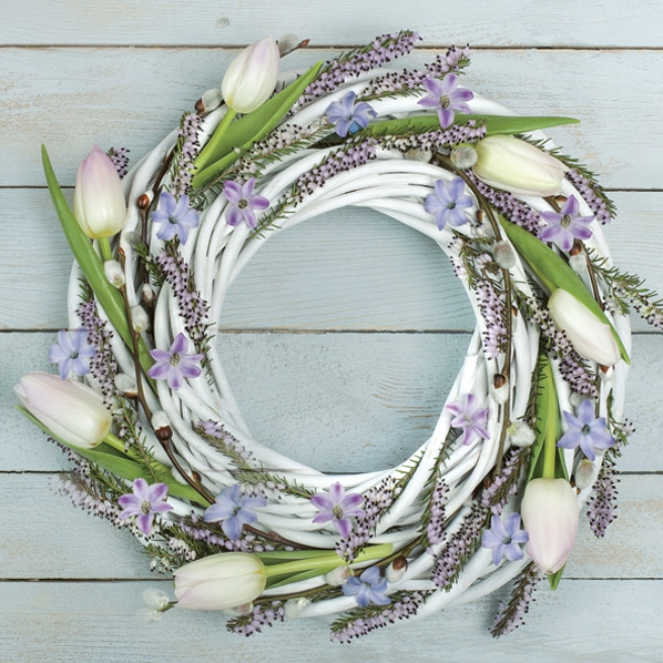 Napkins 33x33 cm - Spring Wreath