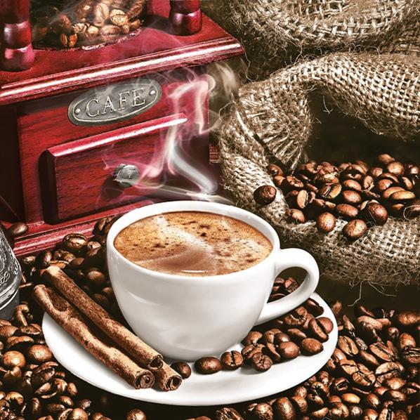 Napkins 33x33 cm - Aromatic Coffee