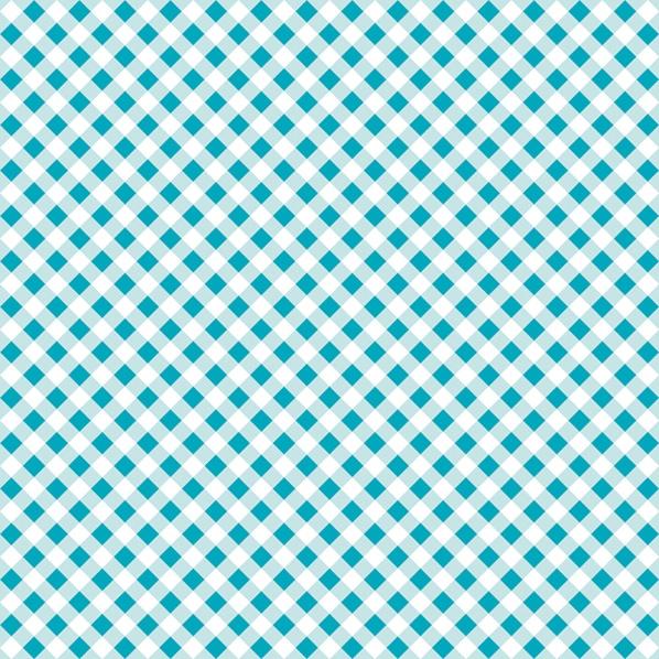 Servilletas 33x33 cm - Diagonal Light Blue Check