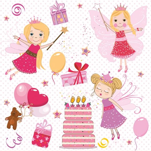 Napkins 33x33 cm - Birthday Fairies