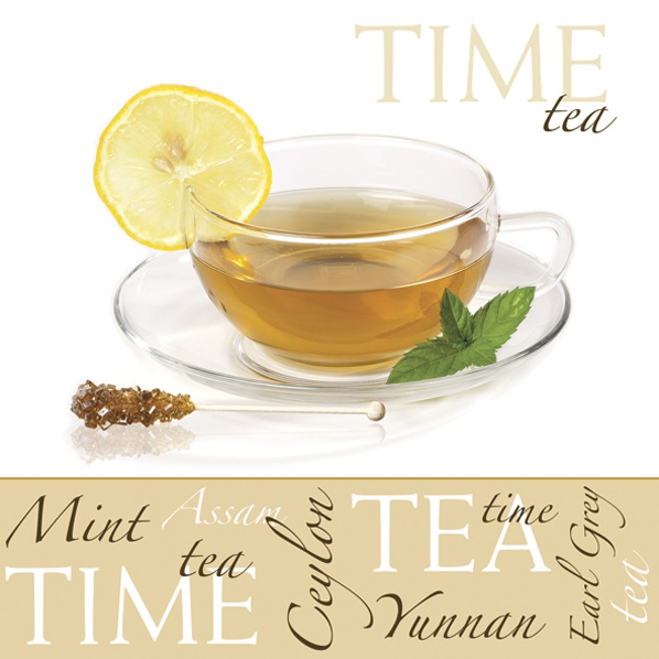Napkins 33x33 cm - All Kinds of Tea