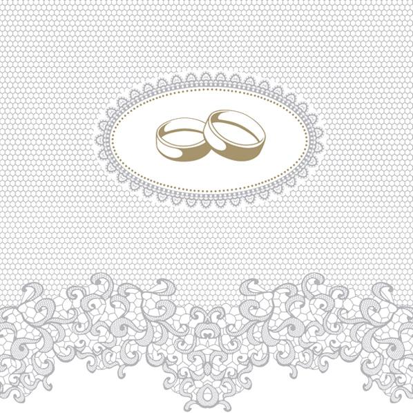 Tovaglioli 33x33 cm - Wedding Rings with Silver Ornaments