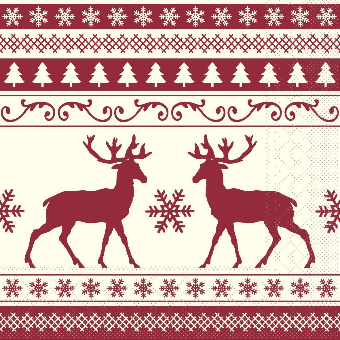 Tissue napkins 33x33 cm - Basti  (champagner/bordeaux)
