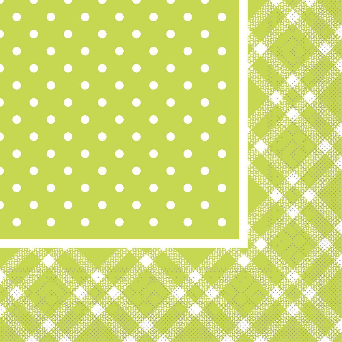 Tissue napkins 33x33 cm - ANTONIA lime
