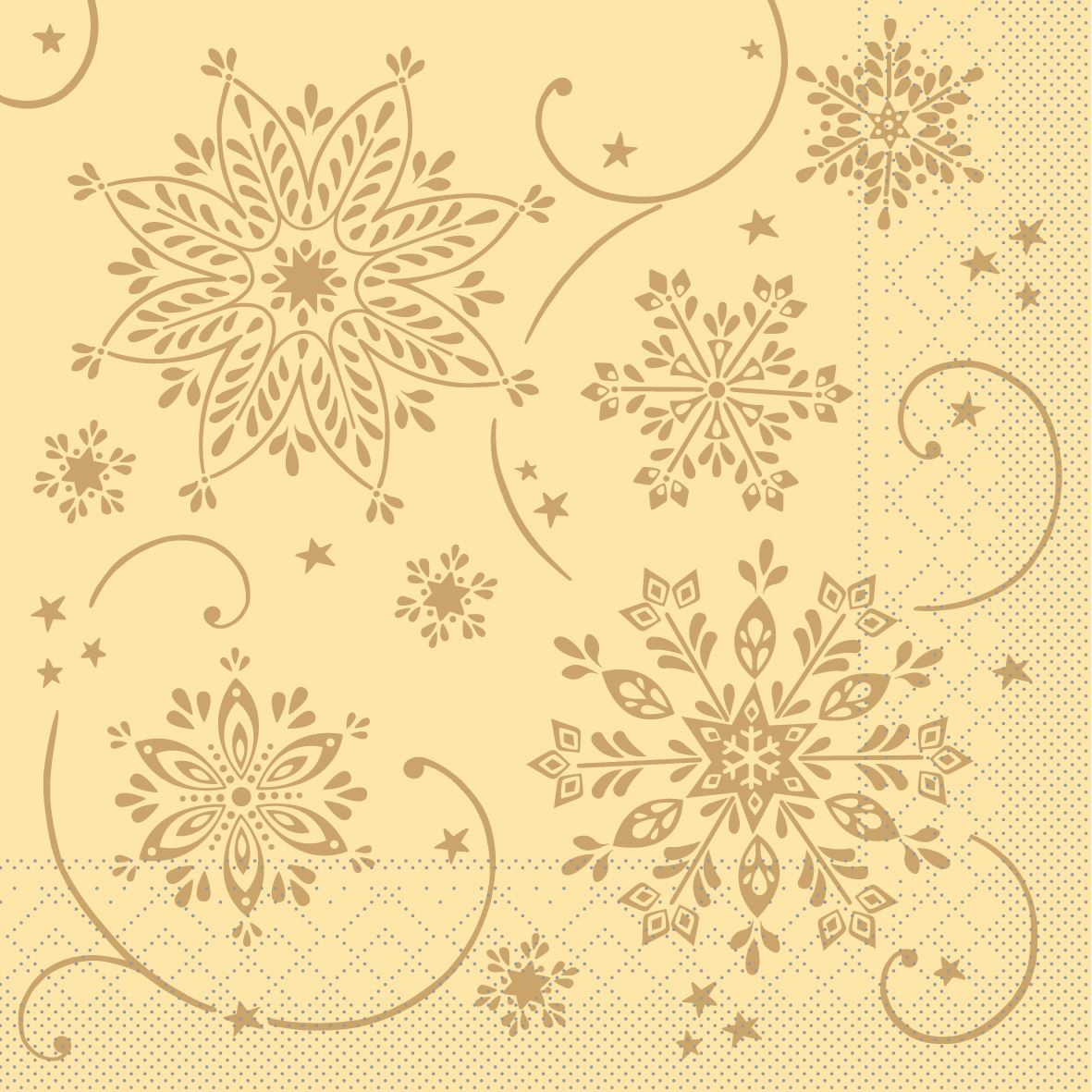 Tissue napkins 33x33 cm - Cristal  (creme)