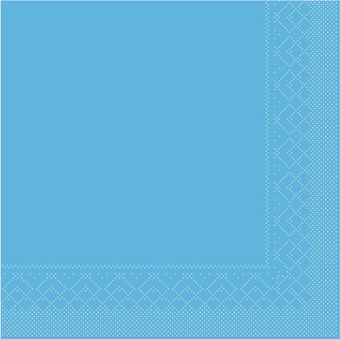 Servilletas de pañuelos 33x33 cm - BASIC  AQUA-BLAU  33x33 cm 1/4-Falz