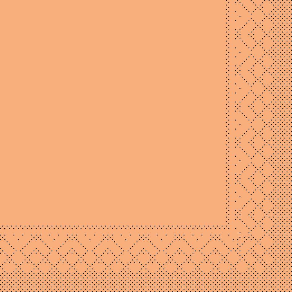 Serwetki chusteczki 33x33 cm - BASIC  APRIKOT  33x33 cm 1/4-Falz