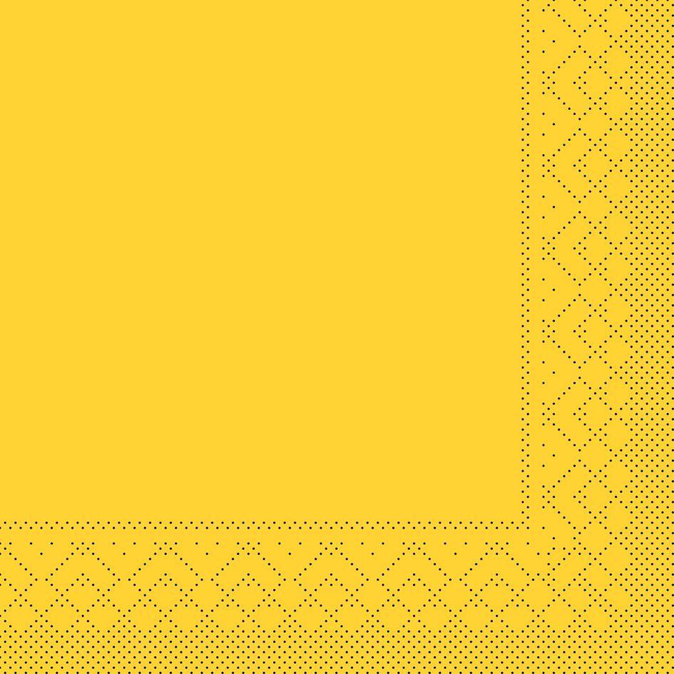 Tissue napkins 33x33 cm - BASIC  GELB  33x33 cm 1/4-Falz