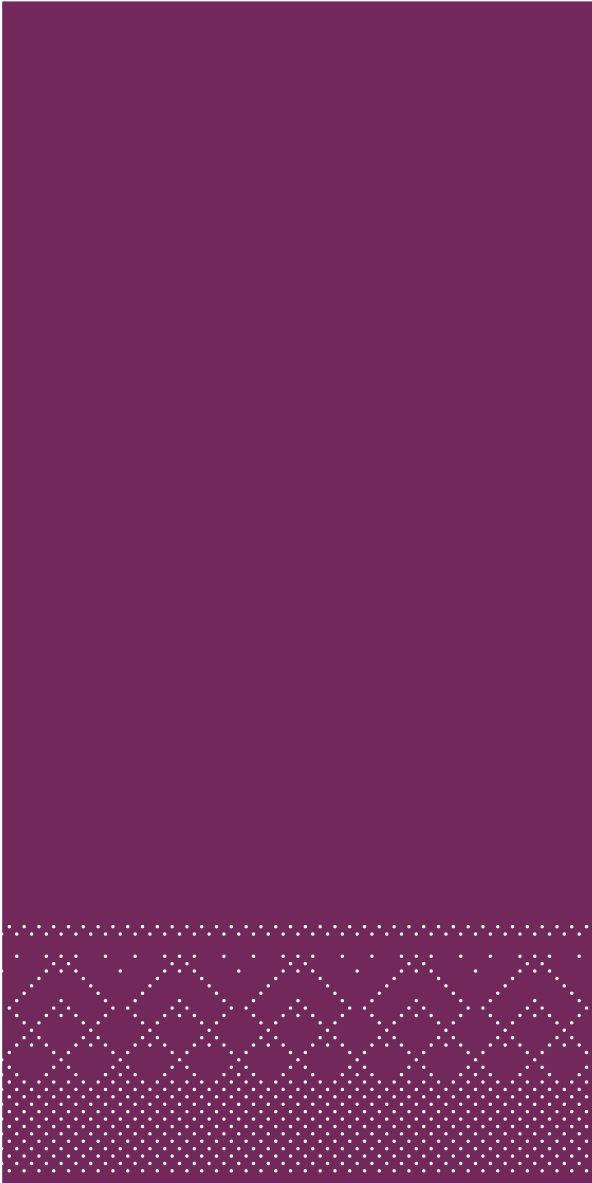 Serwetki chusteczki 33x33 cm - BASIC  AUBERGINE  33x33 cm 1/8Falz