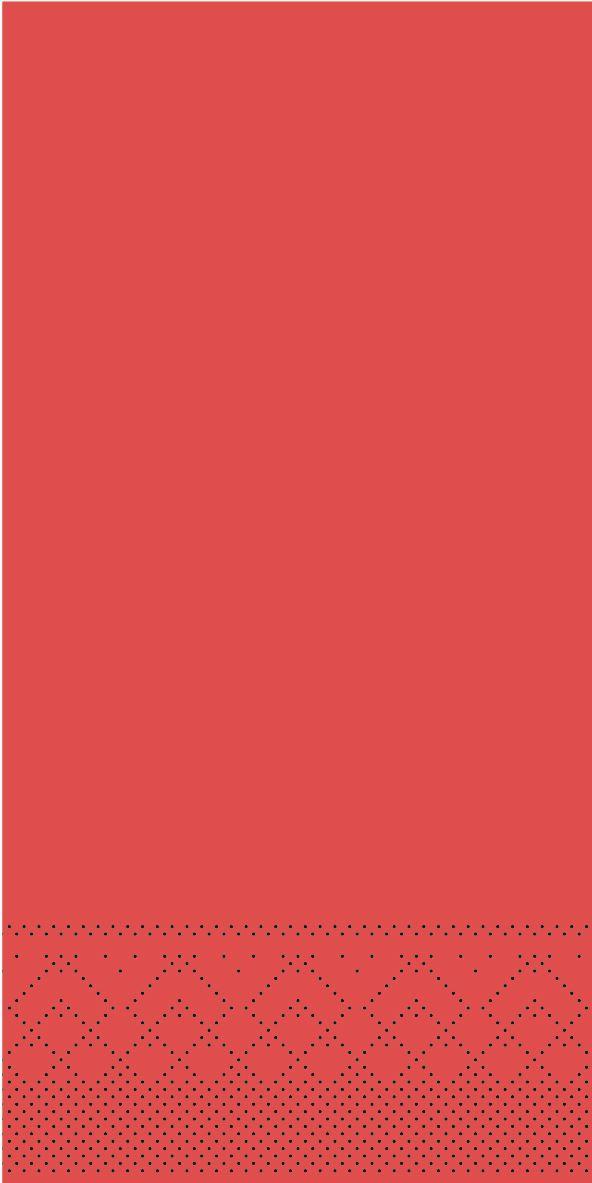 Serwetki chusteczki 33x33 cm - BASIC  ROT  33x33 cm 1/8-Falz