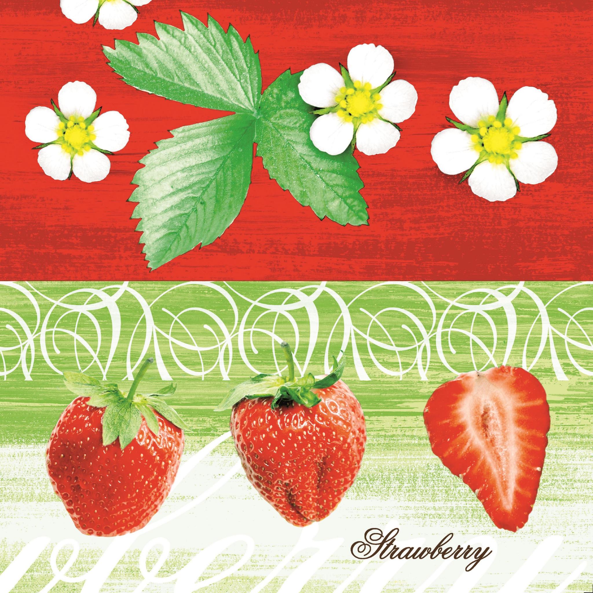 Linklas servetten 40x40 cm - Strawberry