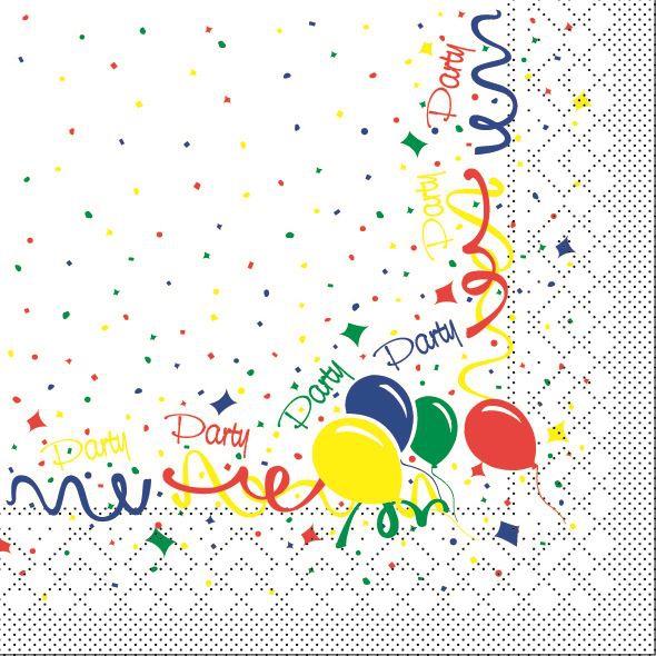 Servilletas de pañuelos 33x33 cm - Party