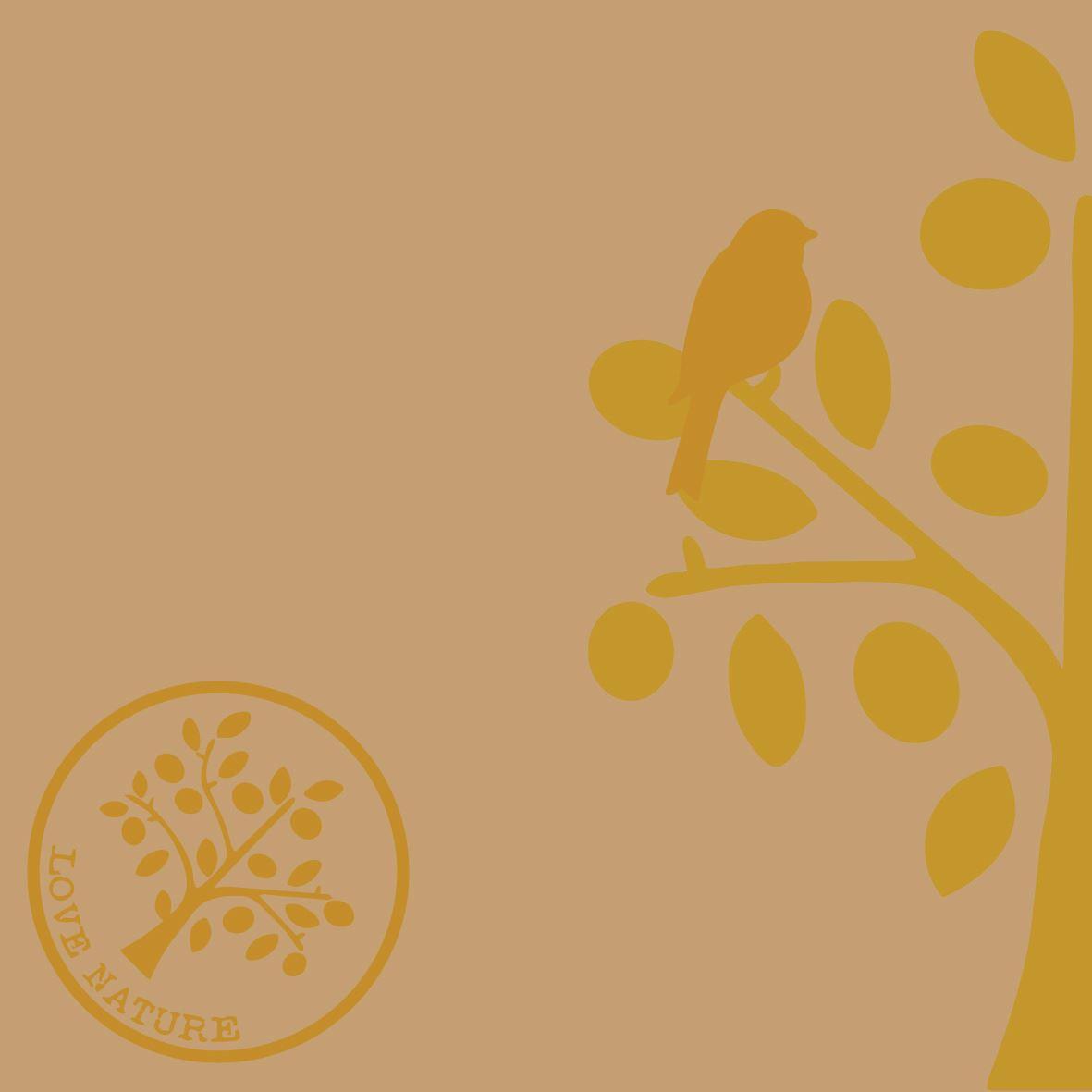 Linclass napkins 40x40 cm - Love Nature-Baum  (naturbraun)