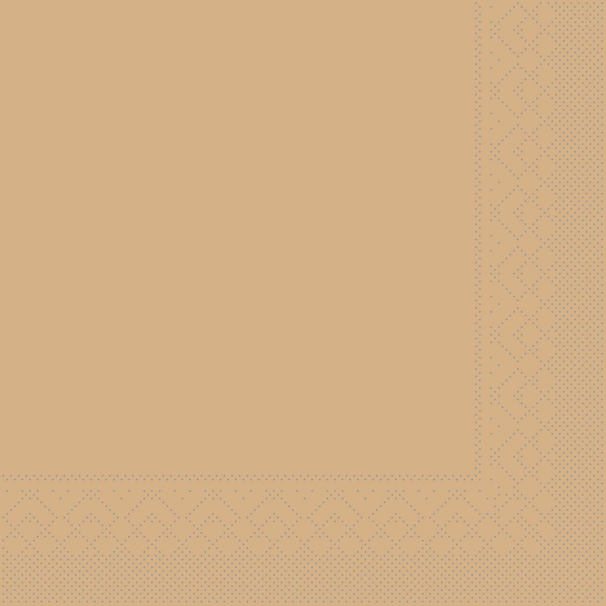 Serwetki chusteczki 33x33 cm - BASIC  SAND  33x33 cm 1/4 Falz