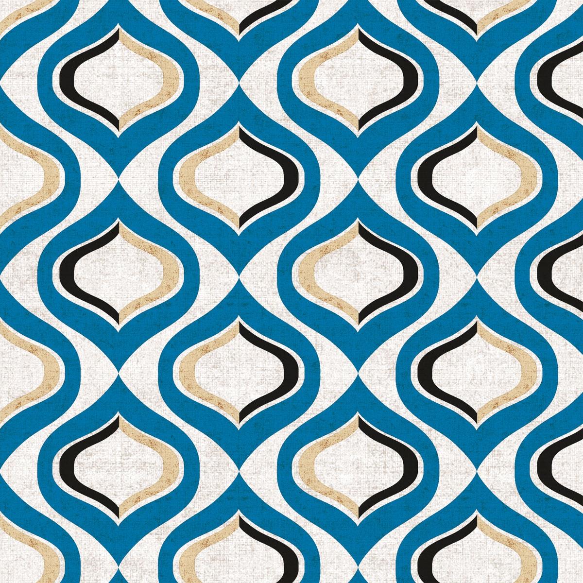 Servilletas 33x33 cm - Pattern blue