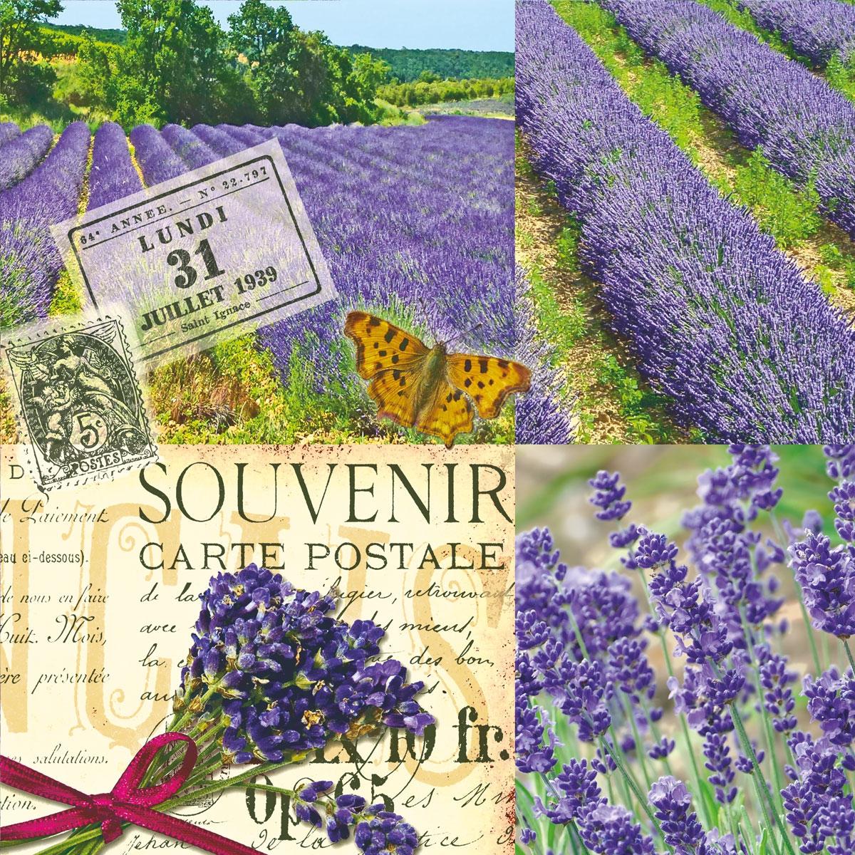 Napkins 33x33 cm - Lavender Scent
