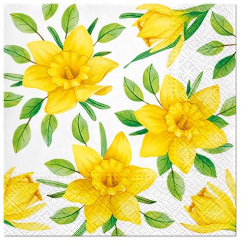 Napkins 25x25 cm - Daffodils in Bloom