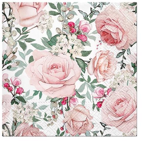 Napkins 25x25 cm - Gorgeous Roses