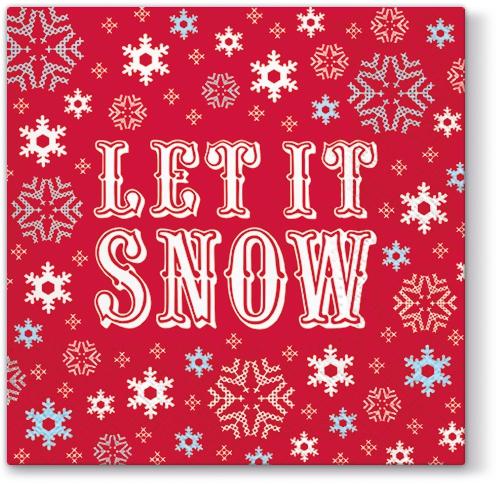 Napkins 33x33 cm - Let it Snow