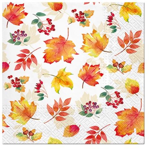 Servilletas 33x33 cm - Falling Leaves