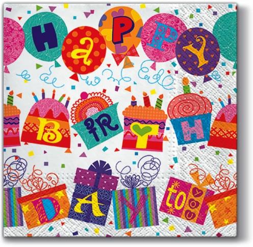 Napkins 33x33 cm - Unusual Birthday