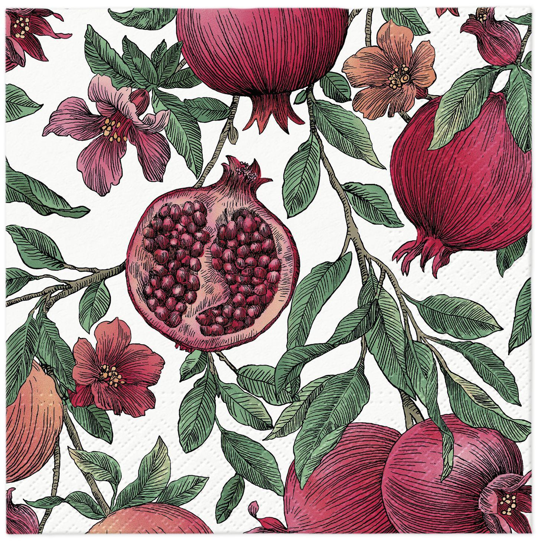 Servilletas 33x33 cm - Pomegranate
