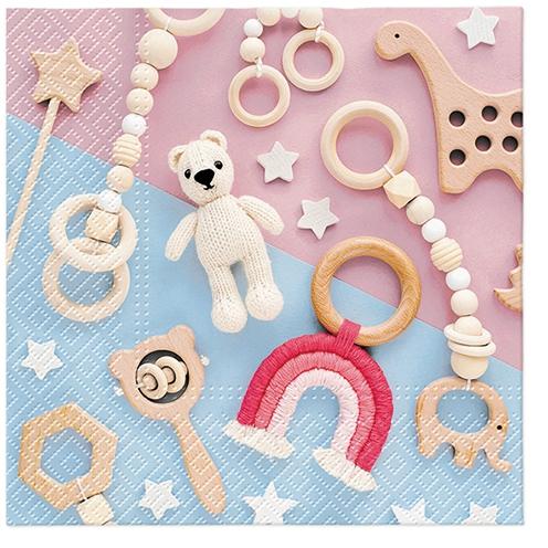 Servilletas 33x33 cm - Lovely Toys