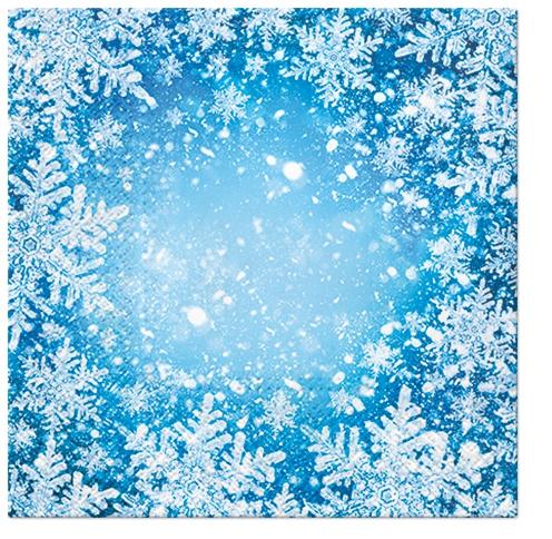 Napkins 33x33 cm - Frosty Window