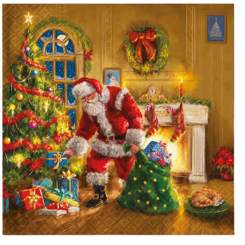 Napkins 33x33 cm - Santa is Here