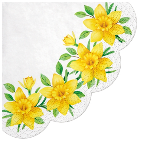 Serviettes - Rondes - Daffodils in Bloom