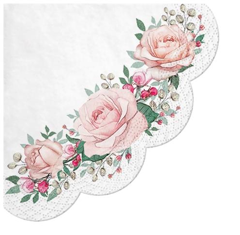 Napkins - Round - Gorgeous Roses