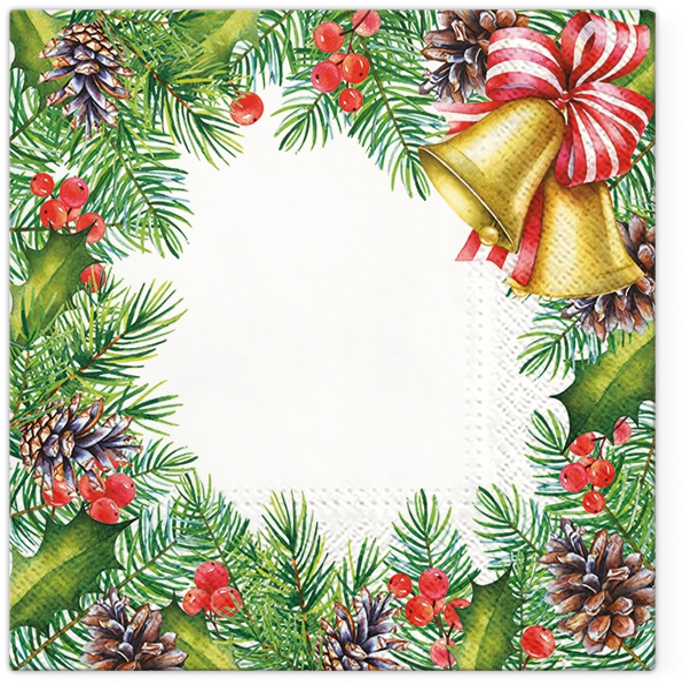 Napkins 33x33 cm - Glory Christmas Frame