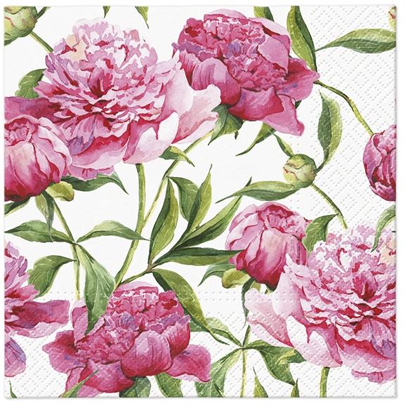 Servilletas 33x33 cm - Pink Peonies