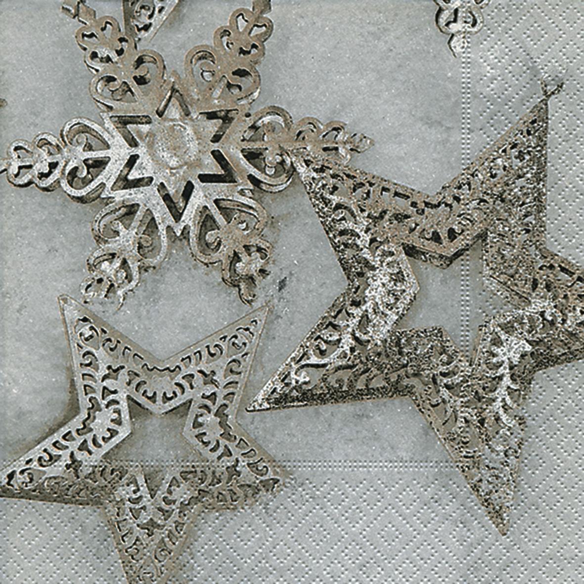 Napkins 33x33 cm - Metallic stars